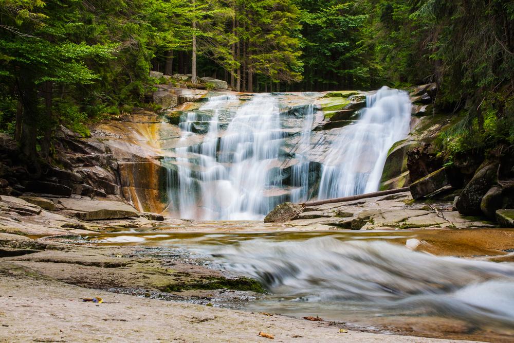 Czeskie Karkonosze - wodospad Mulmlavy