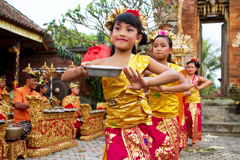 Pokaz tradycyjnego tańca w Ubud